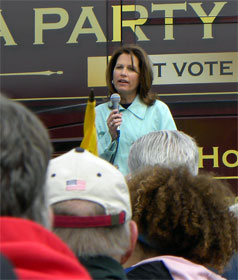 Rep. Michelle Bachmann (R-MN) addressing Tea Party rally