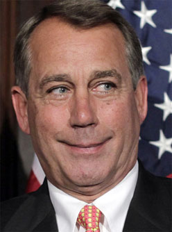 John Boehner looking silly