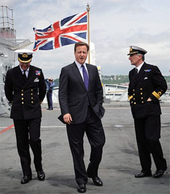 David Cameron with Union Jack