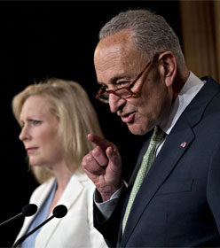 Sens. Kirsten Gillibrand and Chuck Schumer (D-NY)