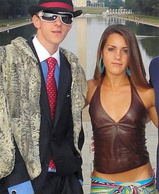 James O'Keefe III, shown with Hannah Giles in their ACORN get-up, was arrested after an incident at Sen. Mary Landrieu's (D-LA) office