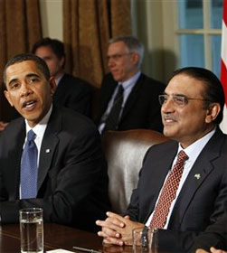 Pres. Obama with Pakistani Pres. Zardari