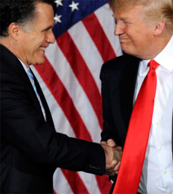 Mitt Romney accepts endorsement of Donald Trump