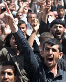 Shiites protest U.S. at Basra