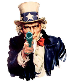 Gun-toting Uncle Sam